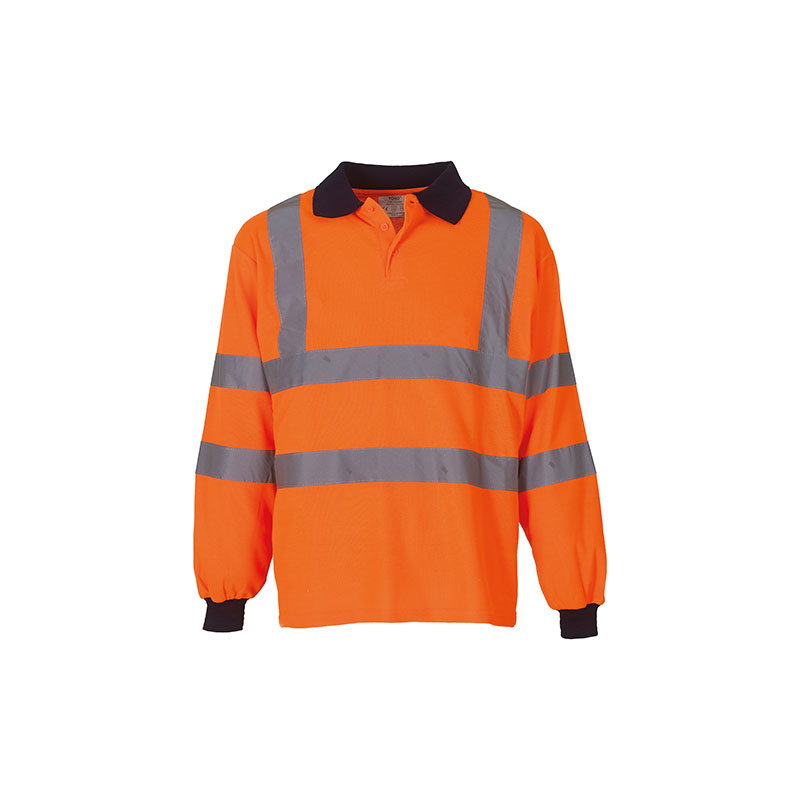 Hi-vis long sleeve polo (HVJ310)