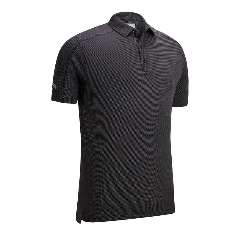 Denim jacquard polo