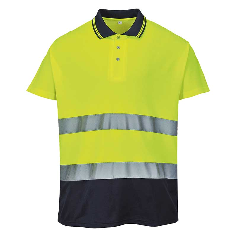 Hi-vis two-tone cotton comfort polo shirt (S174)