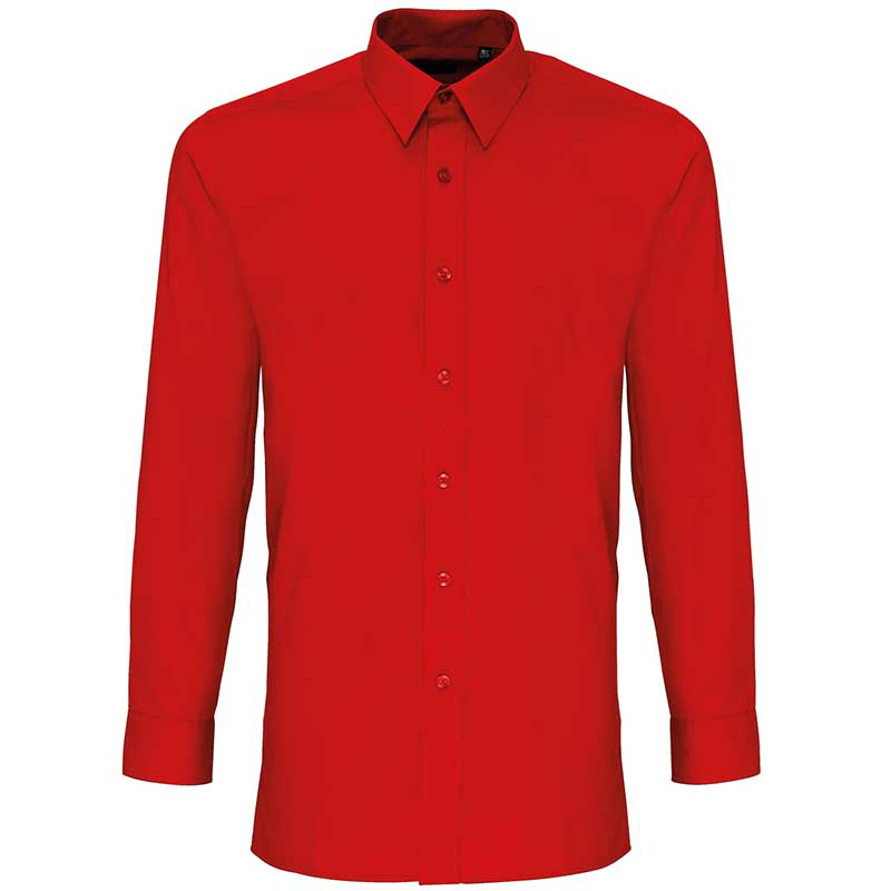 'Colours' poplin fitted long sleeve shirt