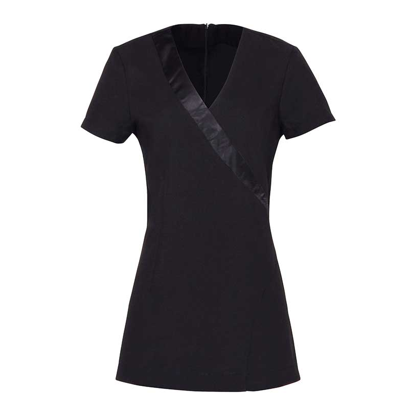 Rose beauty and spa wrap satin trim tunic