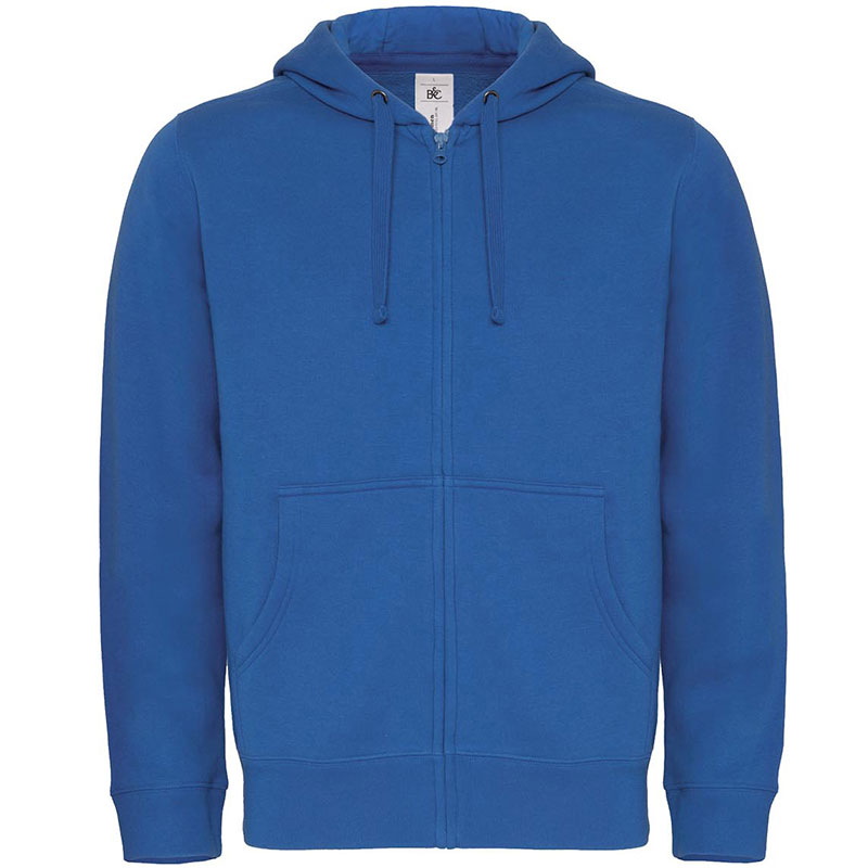 B&C Hooded full zip / men